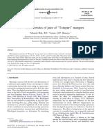 Flow Characteristics of Juice of ''Totapuri'' Mangoes