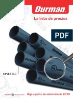 La Lista Durman CR 09-2015 Version Final
