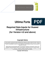 Ultima Forte Required Data Inputs for Huawei Infrastructure_2010
