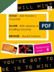 Attendance Poster - Autumn Term 2016 - Nandos, Cinema, Bowling
