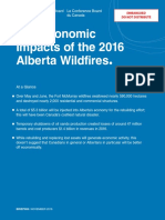 The Economic Impacts of the 2016 Alberta Wildfires