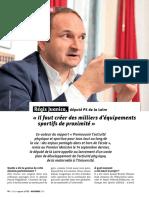 """Interview dans """"Filière Sport"""" de novembre 2016"""
