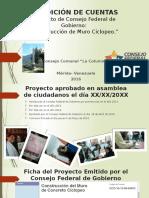 Rendición de Cuentas Proyecto Consejo Comunal Cfg 2016