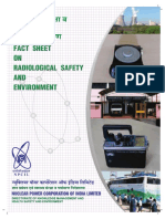 Factsheet on Radiological Safety and Environment - Englis & Hindi