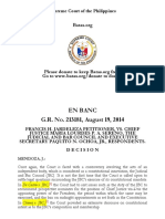 Jardeleza v. Sereno G.R. No. 213181, August 19, 2014