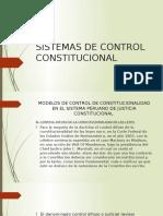 Ssistemas de Control Constitucionalidad