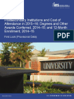 Postsecondary Institutions and Cost of Attendance in 2015–16; Degrees and Other Awards Conferred, 2014–15; and 12-Month Enrollment, 2014–15