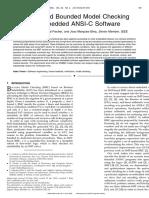 SMT-Based Bounded Model Checking for Embedded ANSI-C Software-1