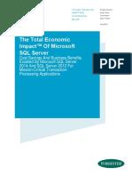 Total Economic Impact of Microsoft SQL Server