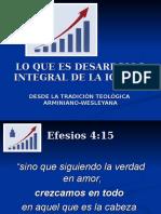 1. Lo Que Es El Desarrollo Integral de La Igl. Dimensiones 7-11