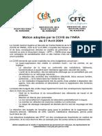 Motion CCHS 27avril04