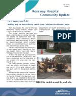 Roseway Community UpdateFall2016