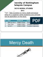 Mercy Death Moral Studies
