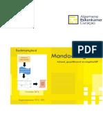 Rapport Mandaatregister periode 2014-2015 Algemene Rekenkamer Curaçao