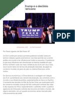 A Vitória de Trump e o Declínio Americano – Esquerda Online