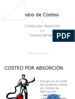 Costeo Absorvente vs Costeo Variable