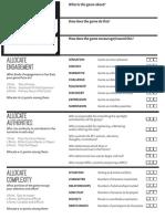 Game Design Sheet Fillable