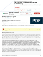 Refrigeration Cycle _ Article About Refrigeration Cycle by the Free Dictionary
