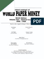 Catalogo de Billetes de Todo El Mundo 1368-1960