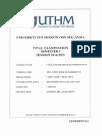 past series exam paper