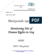 Third Periodical Report on Human Rights Situation in Iraq - December 2005