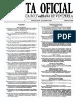 Sumario Gaceta Oficial 39.446