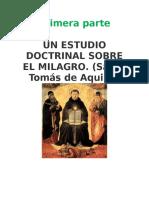 Estudio Doctrinal Sobre El Milagro