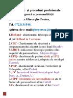 15 chestionarePsihodiagnoza personalitatii
