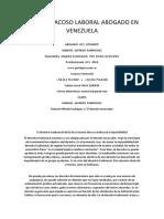Mobbing Acoso Laboral Abogado en Venezuela