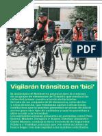 09-11-16 Vigilarán tránsitos en 'bici'
