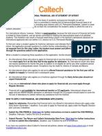 International Financial Aid Statement of Intent