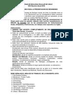 SOCIEDAD DE BIOLOGIA CELULAR DE CHILE XXX Reunión Anual 2016