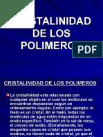 CRISTALINIDAD DE LOS POLIMEROS.ppt