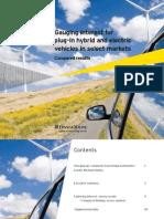 Etude ernst&young sur les véhicules électriques dans les grands marchés automobiles
