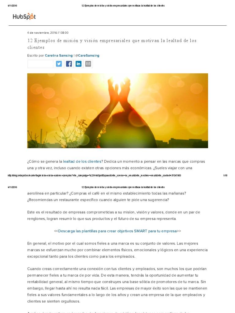12 Ejemplos de Misión y Visión Empresariales Que Motivan La ...