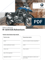 2016 BMW R 1200 GS Adventure — Owner's Manual