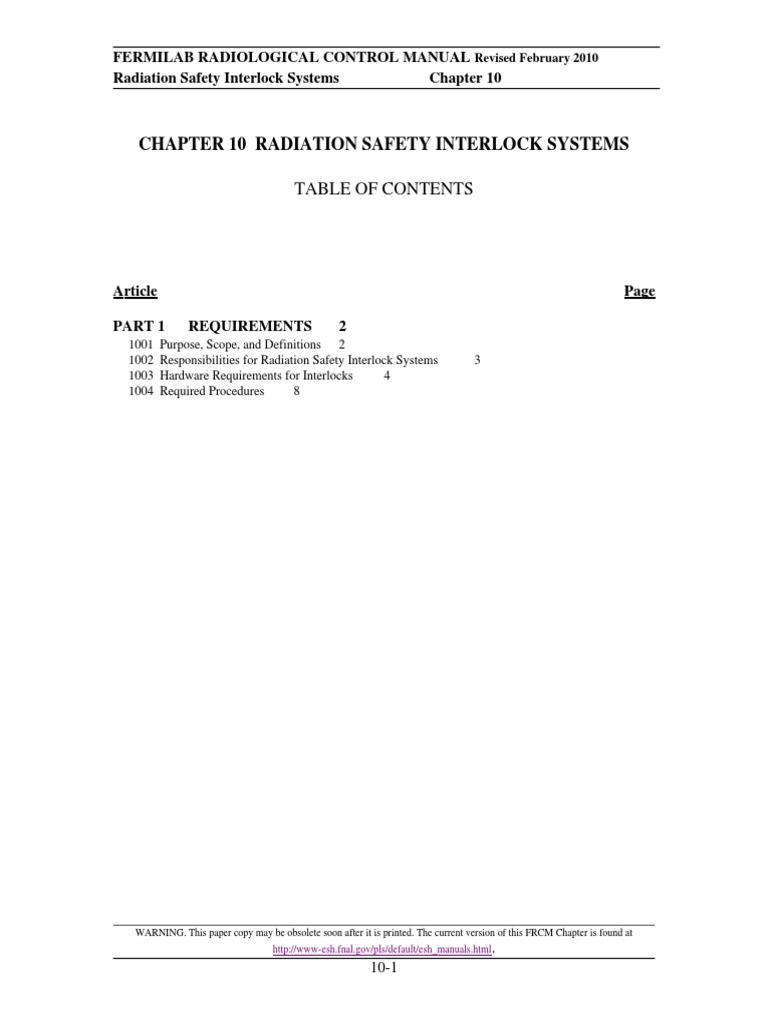frcm chapter 10 1 doc radiation protection ionizing radiation rh es scribd com radiological control manual standard department of energy radiological control manual