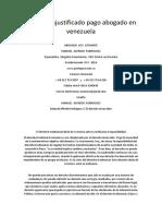 Despido Injustificado Pago Abogado en Venezuela
