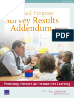 continued progress teacher survey