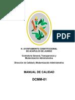 Manual de Calidad H Ayuntamiento de Acapulco de Juarez