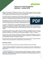 INFORME Deforestación en El Norte de Argentina (Septiembre - Octubre 2016)