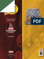 Paper Mario - Manual - N64