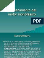 Mantenimiento Del Motor Monofasico