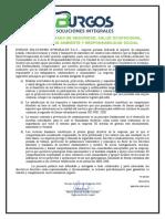PO-GE-001 POLITICA INTEGRADA DE  MEDIO AMBIENTE,CALIDAD,  SEGURIDAD, SALUD OCUPACIONAL Y RESPONSABILIDAD SOCIAL.docx