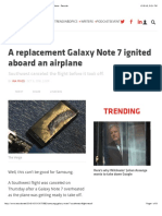 A Replacement Galaxy Note 7 Ignited Aboard an Airplane - Recode