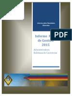 Informe de Gestion Final 2015 0