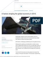 6 Factors Shaping the Global Economy in 2016 World Economic Forum