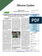 Autumn 2008 Mission Update Newsletter - Catholic Mission Association