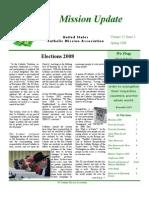 Spring 2008 Mission Update Newsletter - Catholic Mission Association