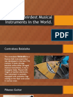 Weirdest Musical Instruments in the World (and How a Song is Recorded)